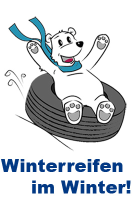 Winterreifen im Winter