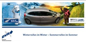 "Download Flyer ""Winterreifen im Winter - Sommerreifen im Sommer"""
